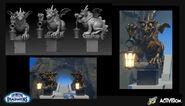 Dragon Statues by Jamie Burton