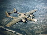 Northrop P-61 green airborne