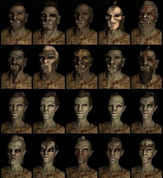 Orc race face compilation.