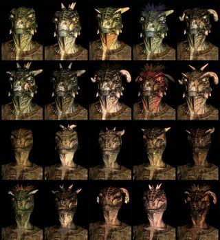 Argonian lizard-men race face compilation.