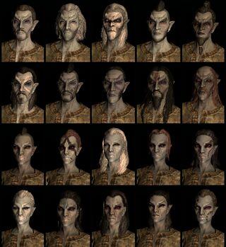 Dark Elf race face compilation.