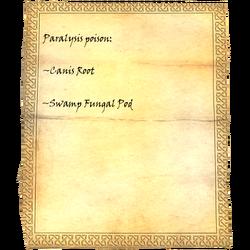 Paralysis poison: Caniswurzel, Sumpfpilzschote