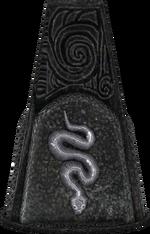 Snake glyph pillar