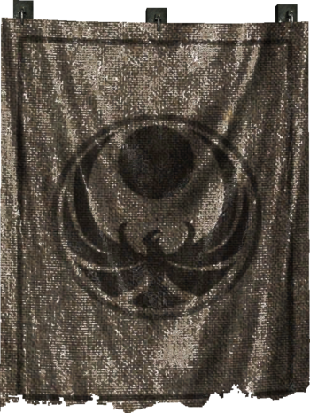 Nightingale banner with emblem