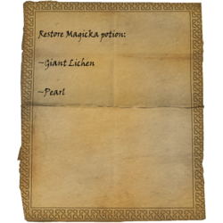 Restore Magicka potion: Giant Lichen, Pearl