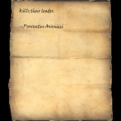 anyone who kills their leader. --Proventus Avenicci