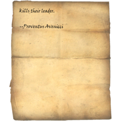 anyone who kills their leader. --Proventus Avenicci
