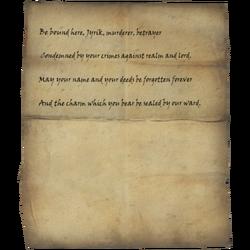 Writ of Sealing for Jyrik