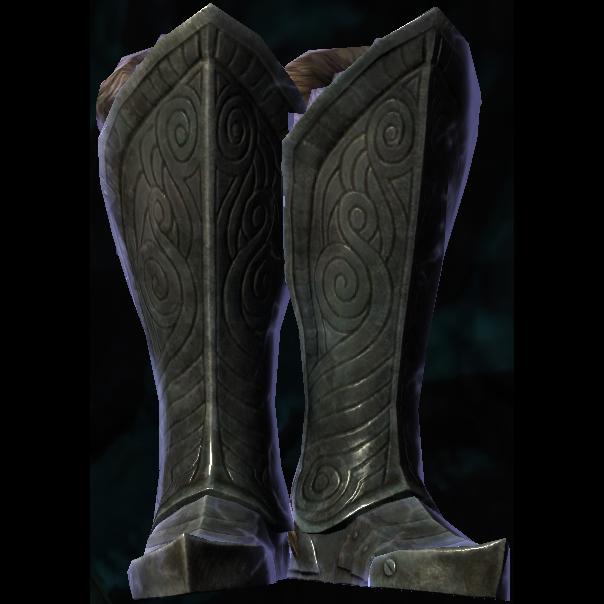 steel plate boots of dwindling shock