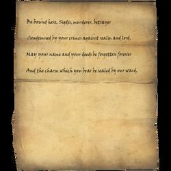 Writ of Sealing for Sigdis
