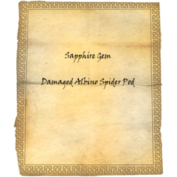 Sapphire Gem / Damaged Albino Spider Pod