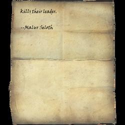 anyone who kills their leader. --Malur Seloth