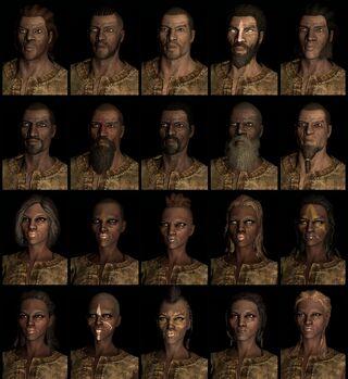 Redguard human race face compilation.