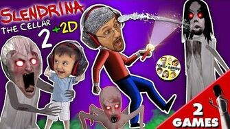 SLENDRINA'S BABY? GRANNY gets Shawn in Cellar 2 Slendrina 2D Puzzle Game (FGTEEV 2-in-1)