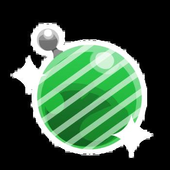 Vert rayé