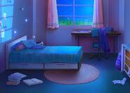 Pokoj od okna- w nocy