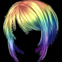 38 Peruka krótka Rainbow