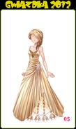 Odc. Gwiazdka 2012 złota suknia