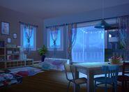 33Dom Iris - Salon w nocy
