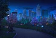 SFU Park w nocy
