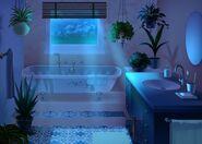 33Dom Iris - Łazienka w nocy