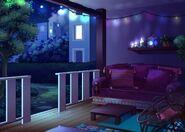 33Dom Iris - Patio w nocy