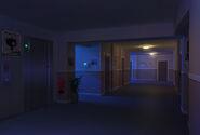 SFU Korytarz pokoje w nocy