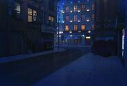 SFU Uliczka w nocy