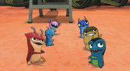 Bludgeon, sparky, X-mitter, suds, Chiller and Joules