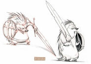 Porcupine guard concept sketch from Thieves in Time