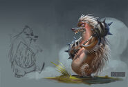 Porcupine guard colored concept art from Thieves in Time