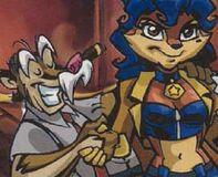 Carmelita felicitada por Jefe comic
