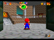 A view of the basement entrance from the direction of the sewers, from an unpersonalized ROM.