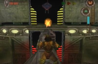 Sentry battling Archer in Space Ship Level Failed.jpg