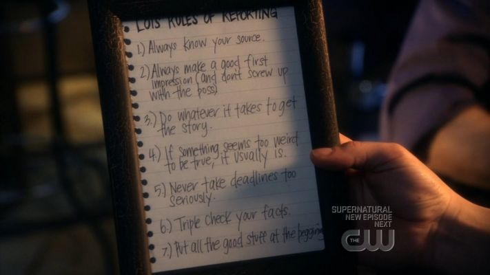 Lois' Rules of Reporting