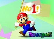 Félicitations Mario 64