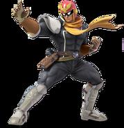 Art Captain Falcon noir Ultimate