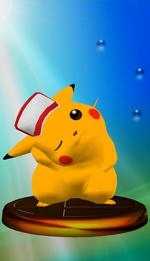 Trophée Pikachu SSBM Bleu.png