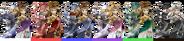 Couleurs Zelda Sheik Brawl