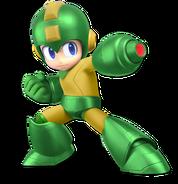 Art Mega Man vert jaune Ultimate