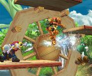 Mario attaques Brawl 3