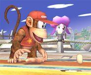Diddy Kong attaques Brawl 3