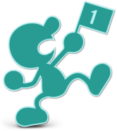 Art Mr. Game & Watch bleu clair Ultimate