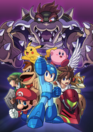 Artwork SSB4 Mega Man