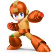 Art Mega Man orange Ultimate