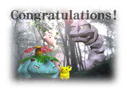 Félicitations Pikachu 64