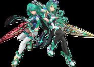 Art Pyra Mythra vert Ultimate