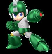 Art Mega Man vert Ultimate