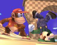 Luigi attaques Brawl 4