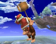 Donkey Kong attaques Brawl 4